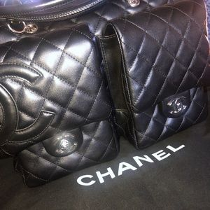 Authentic Large Chanel Cambon Reporter Bag